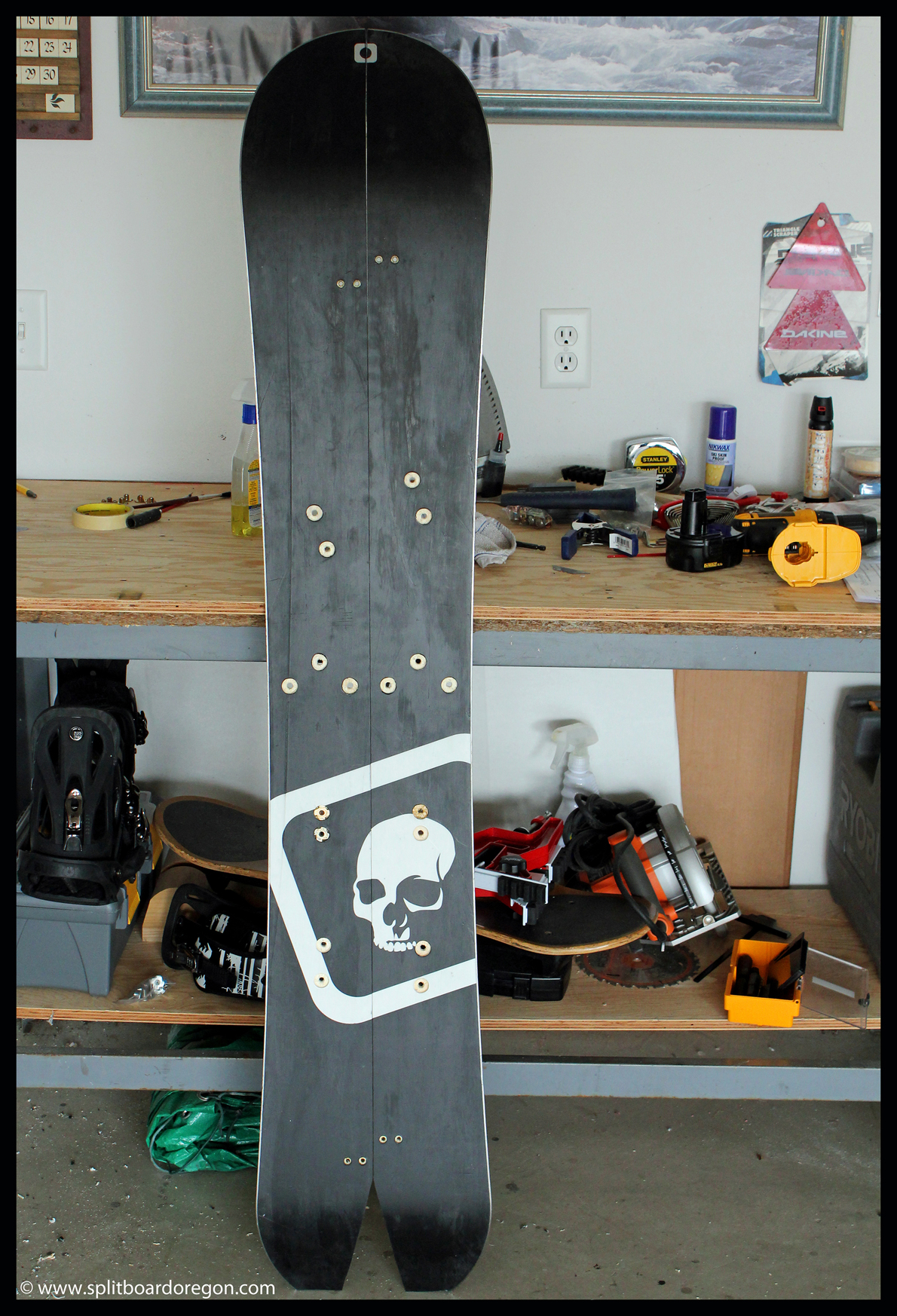 Board with all holes drilled