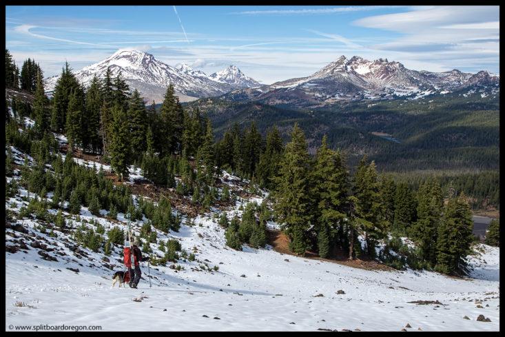 Early season snow in the Oregon Cascades