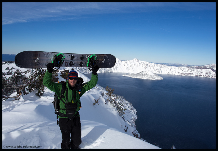 Looking out over Crater Lake
