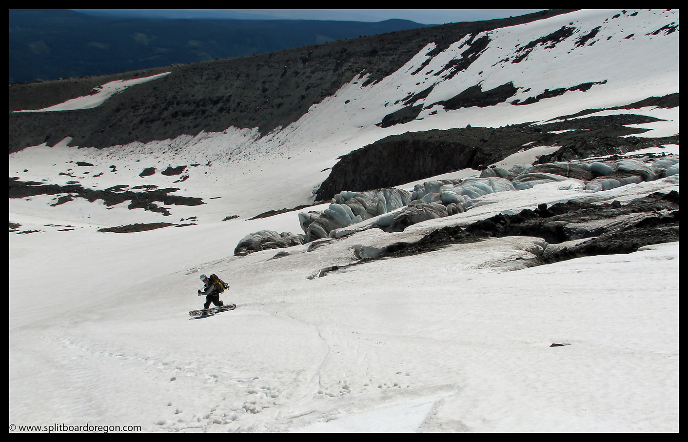 July turns on the Eliot Glacier