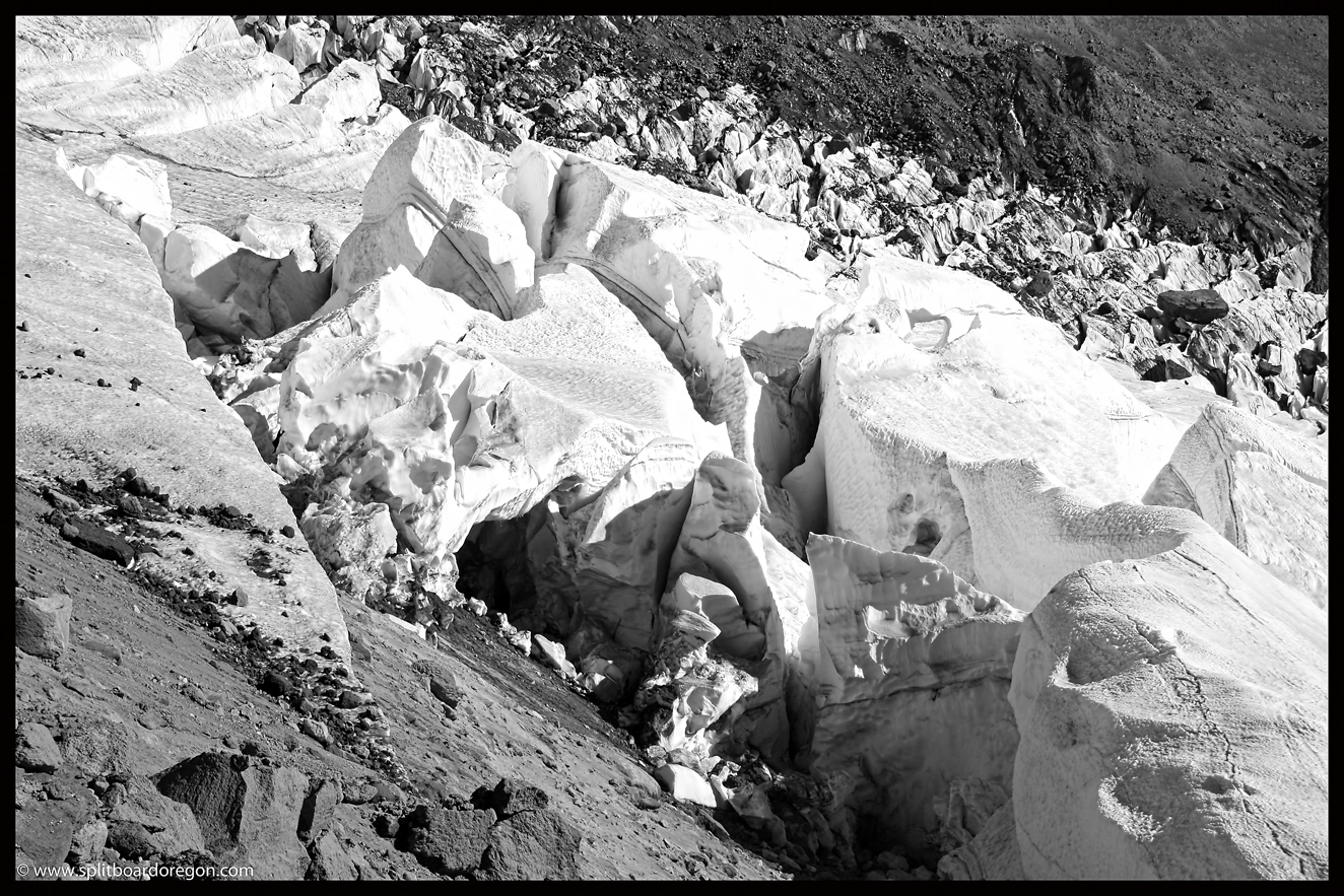White River Glacier crevasses