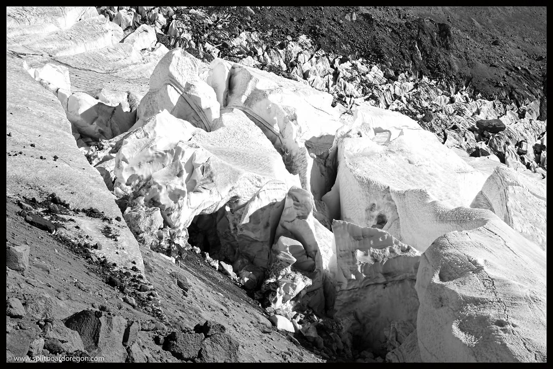 White River Glacier crevasses