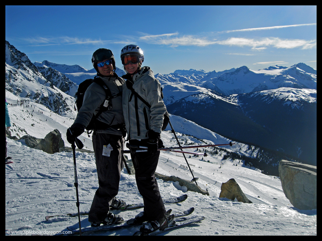 Todd and Kim at the top of 7th Heaven