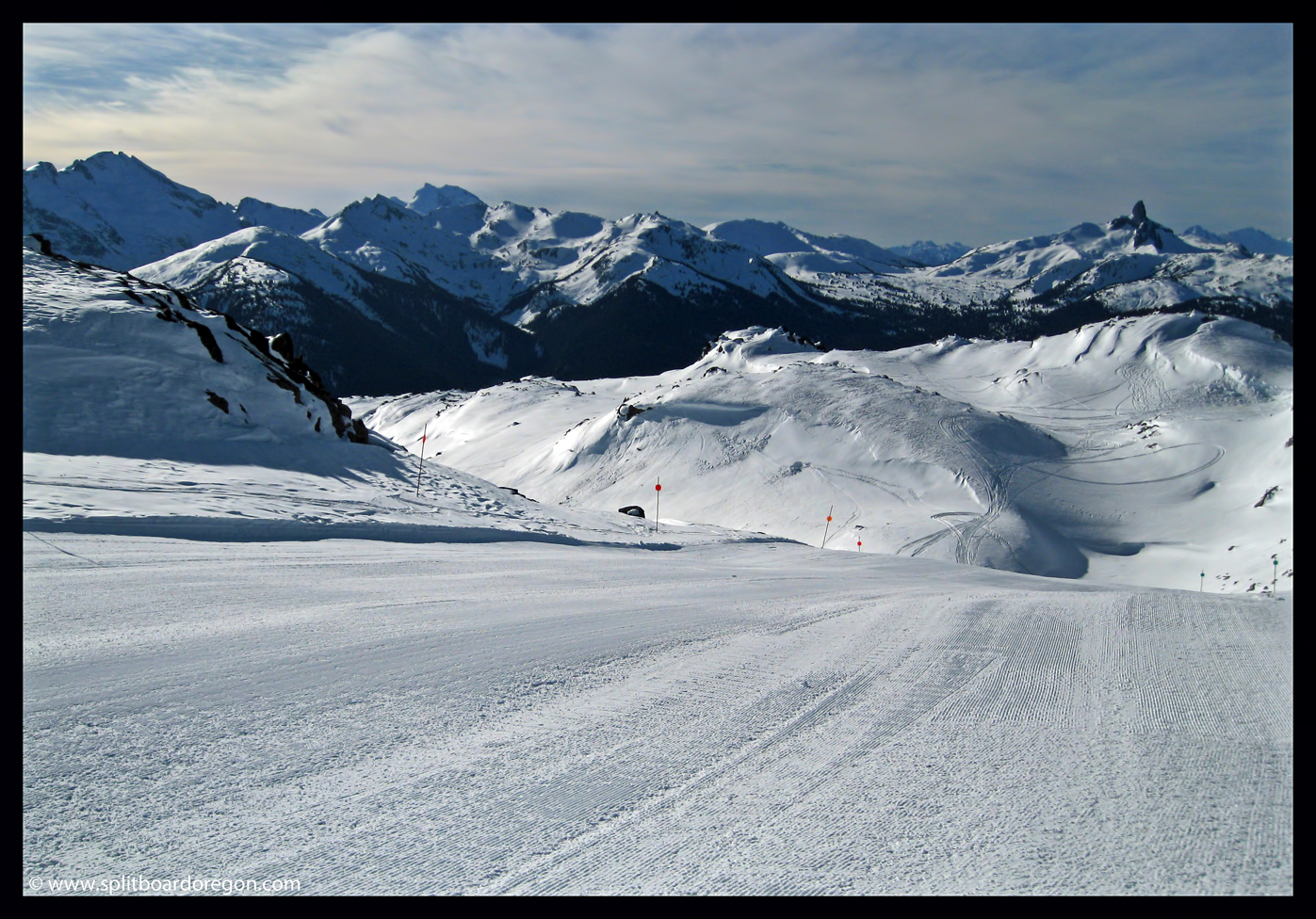 Looking out into the Whistler backcountry