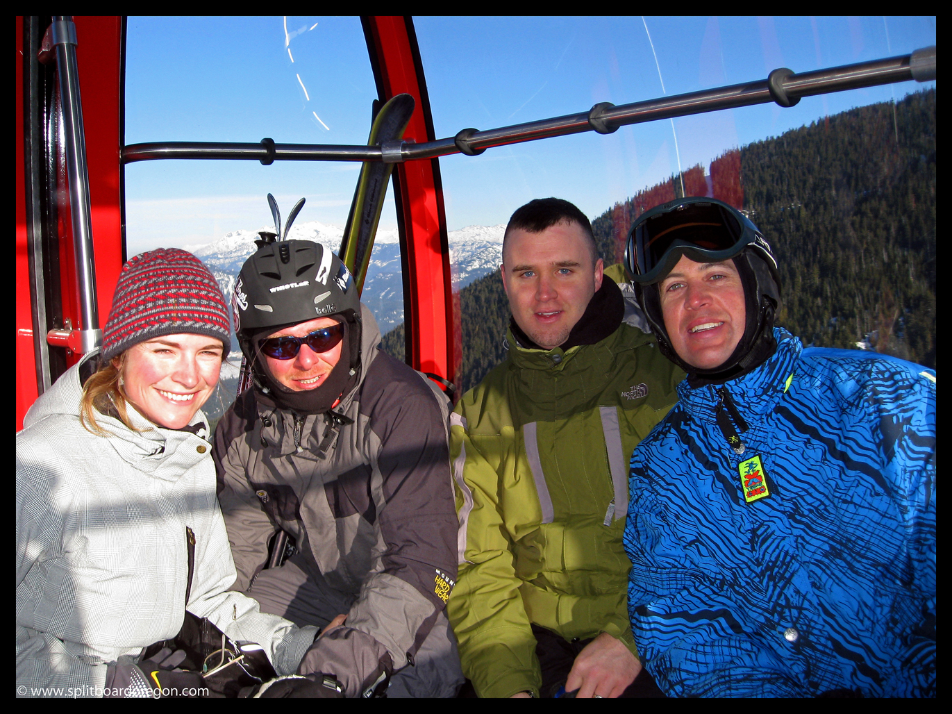 The crew on the Peak to Peak Gondola