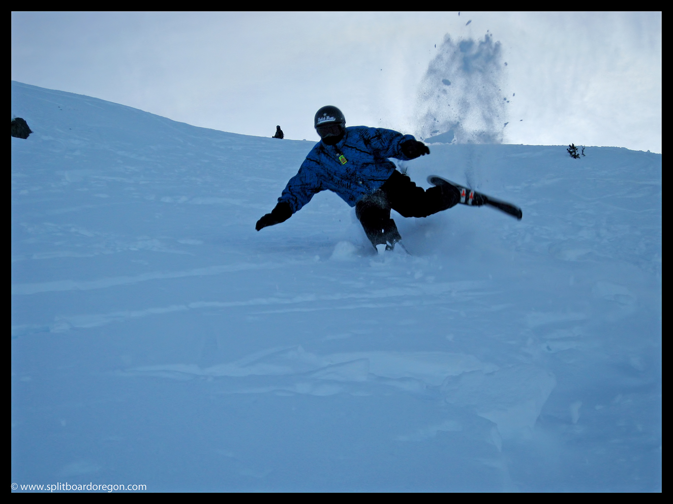Andy biffing it on Whistler Mountain