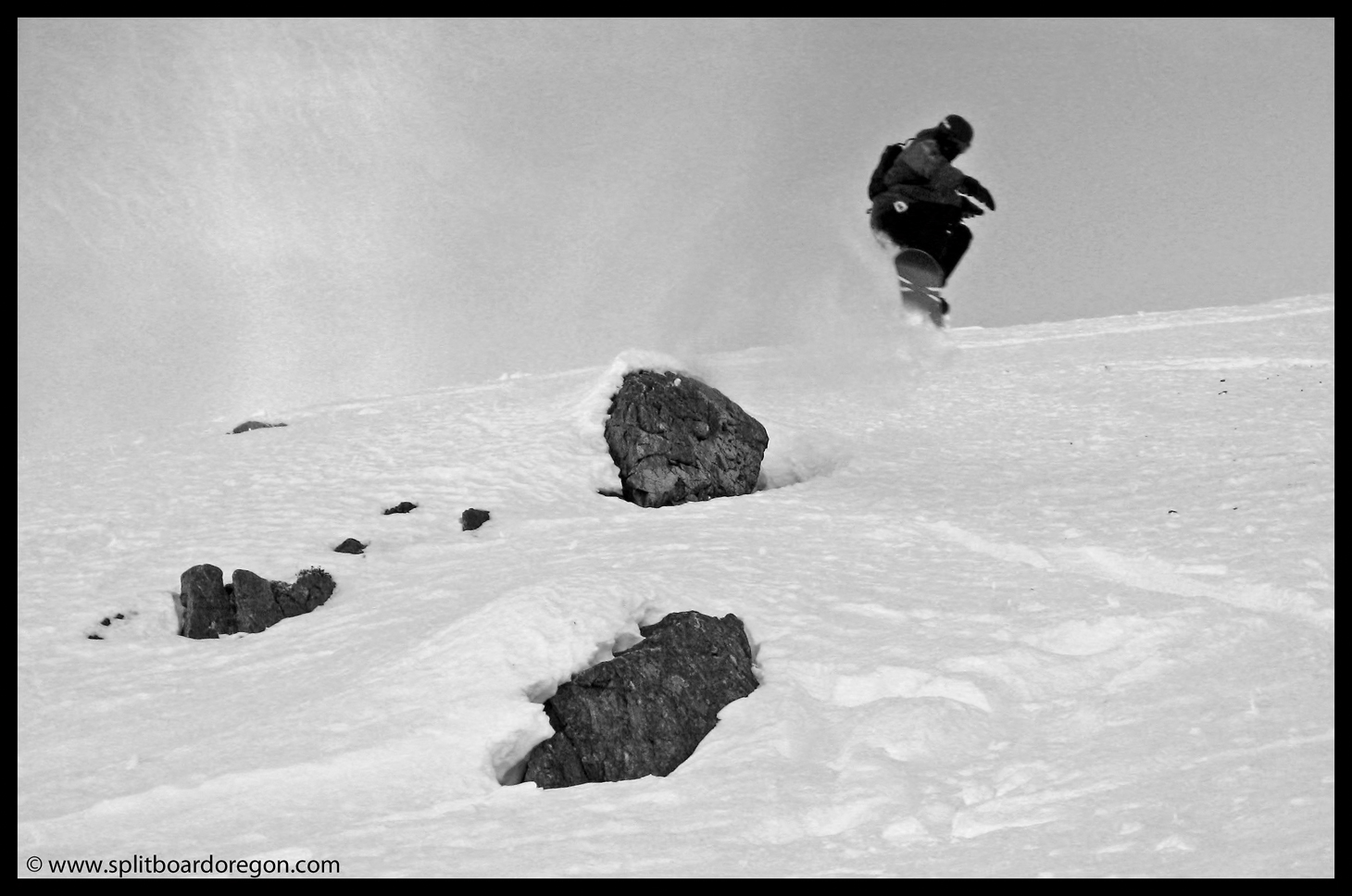 Matt dropping a small rock on Whistler Mountain