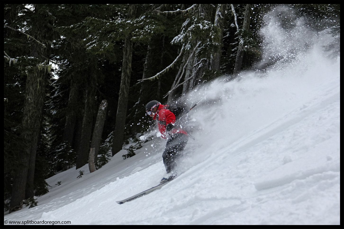 Simon floating through the pow