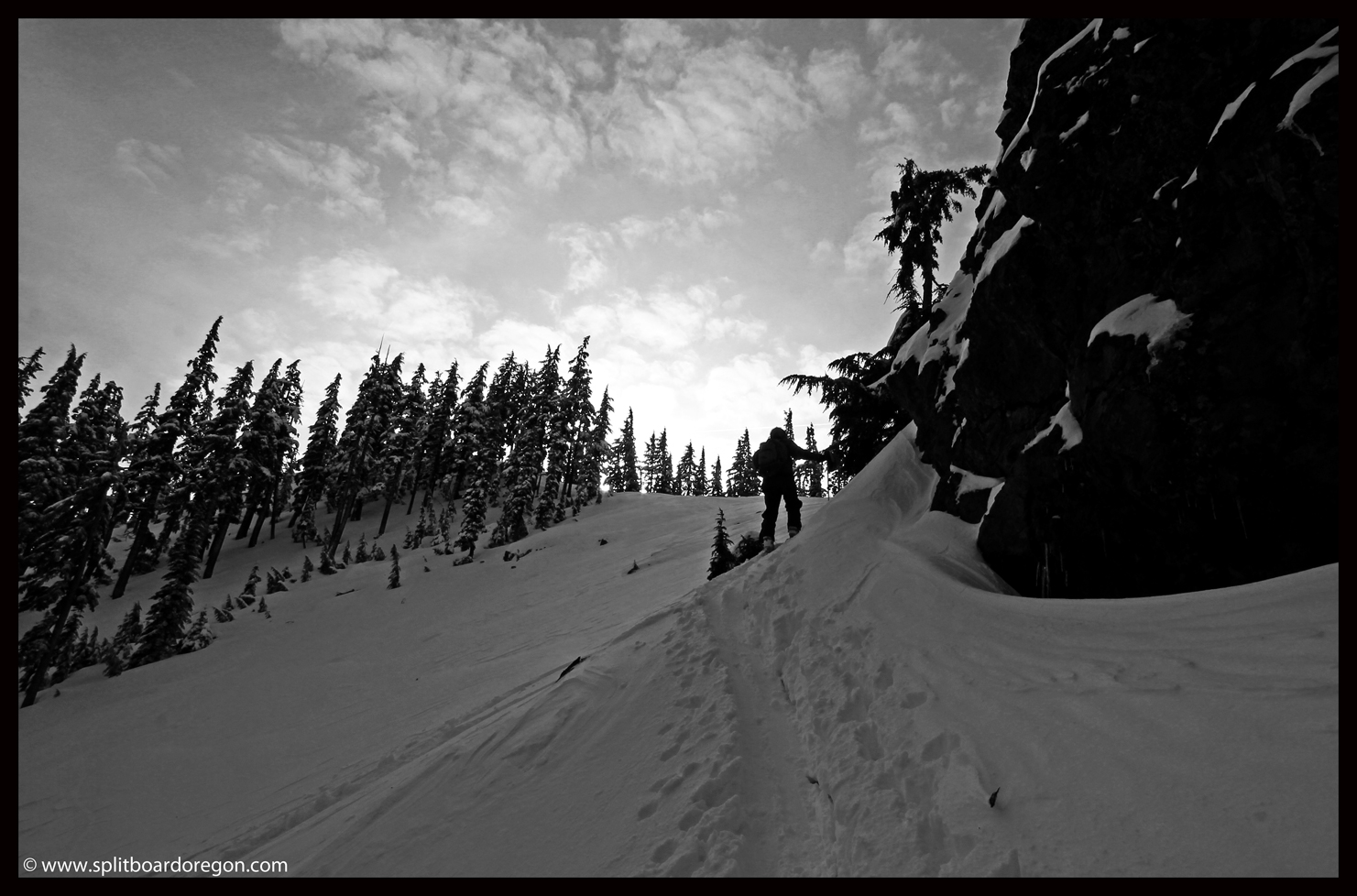 John skinning up June's Run