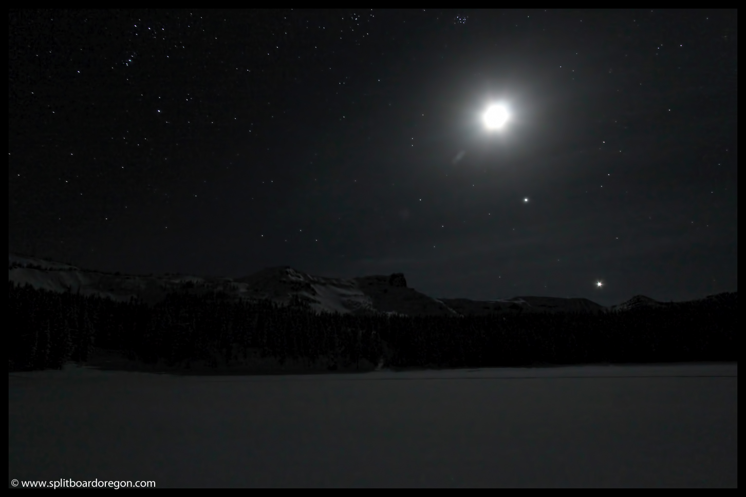 The Rim from Three Creeks Lake at night