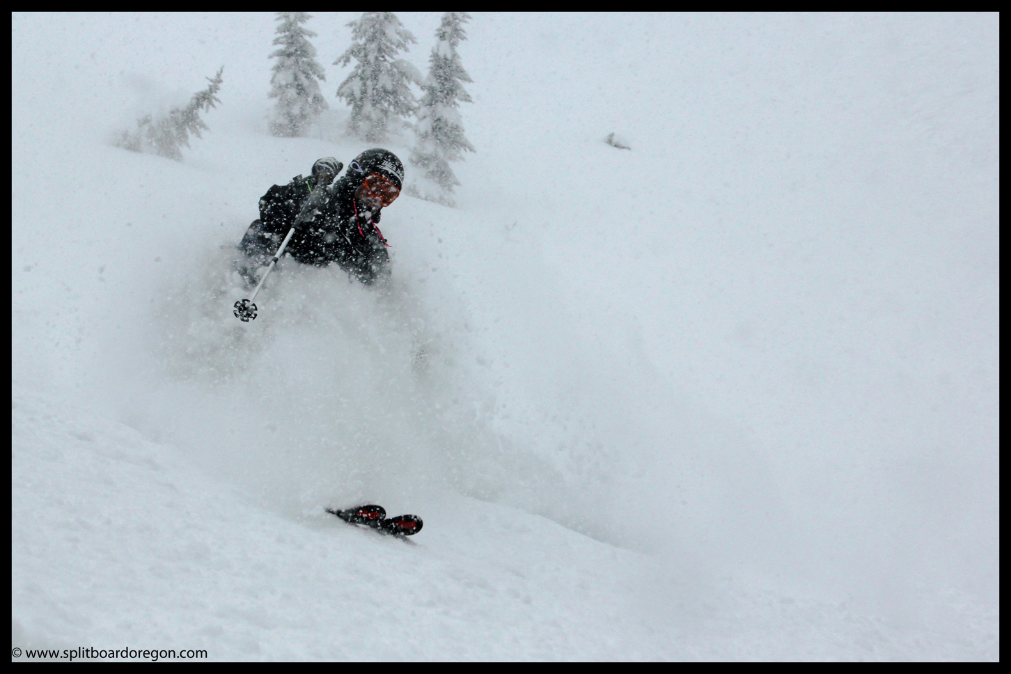 Andy enjoying the deep pow