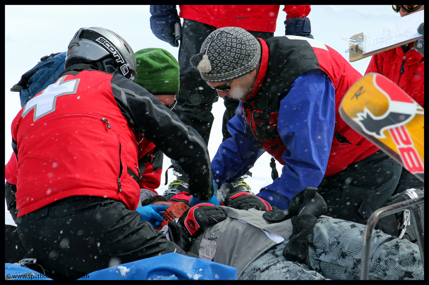 Tending to a patient during a scenario