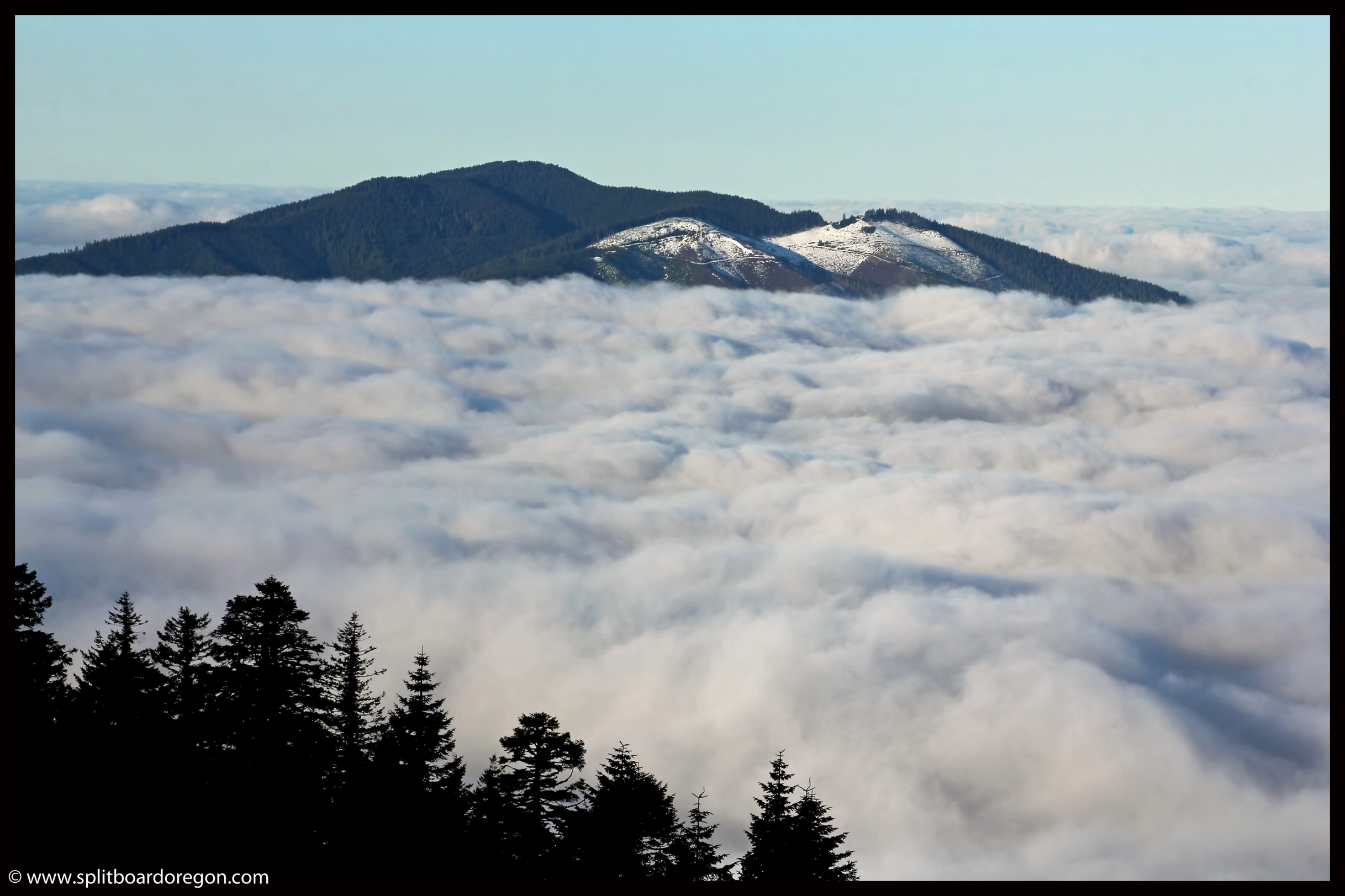 Grass Mountain above the clouds