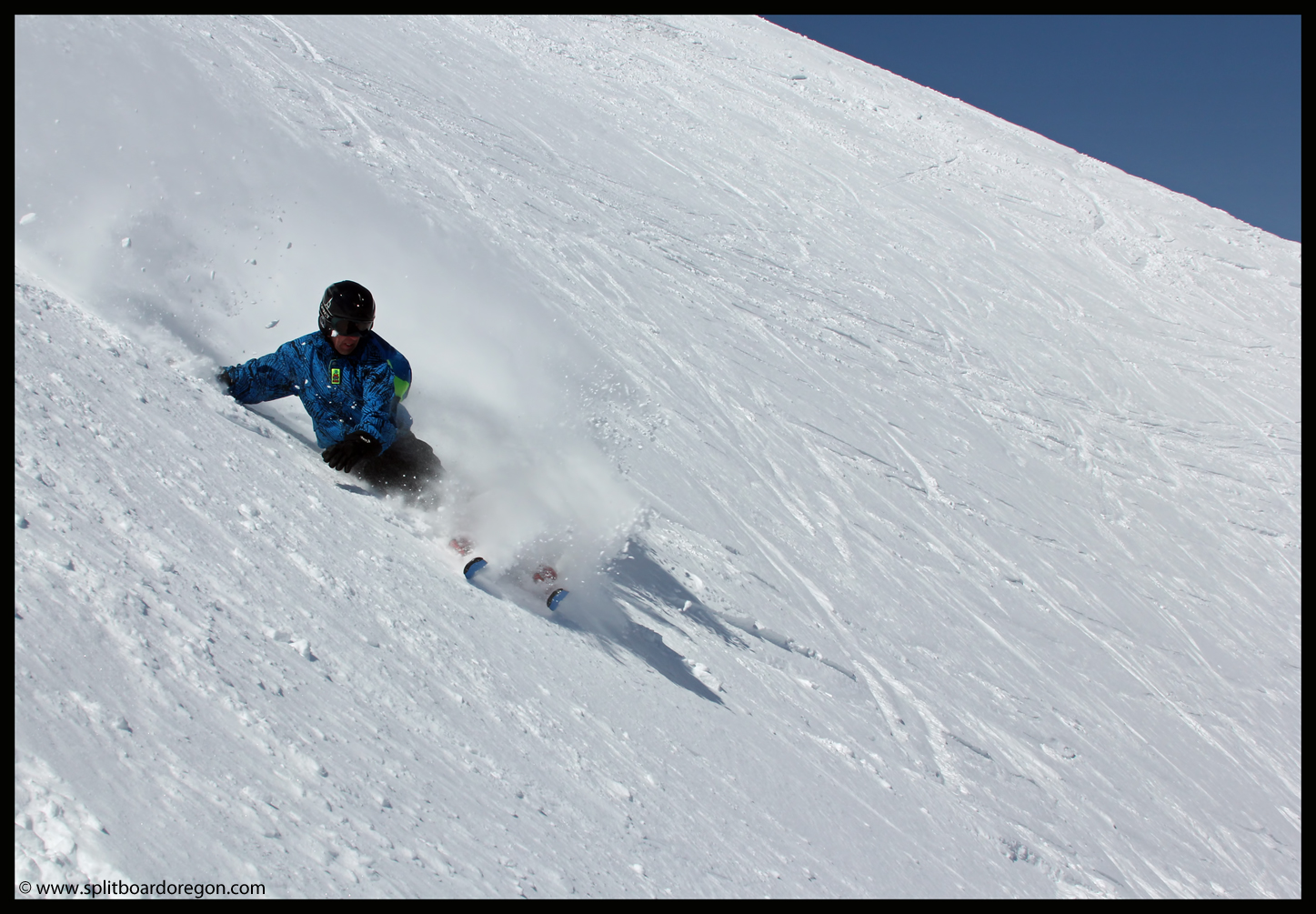 Slashing powder in the Cirque Bowl