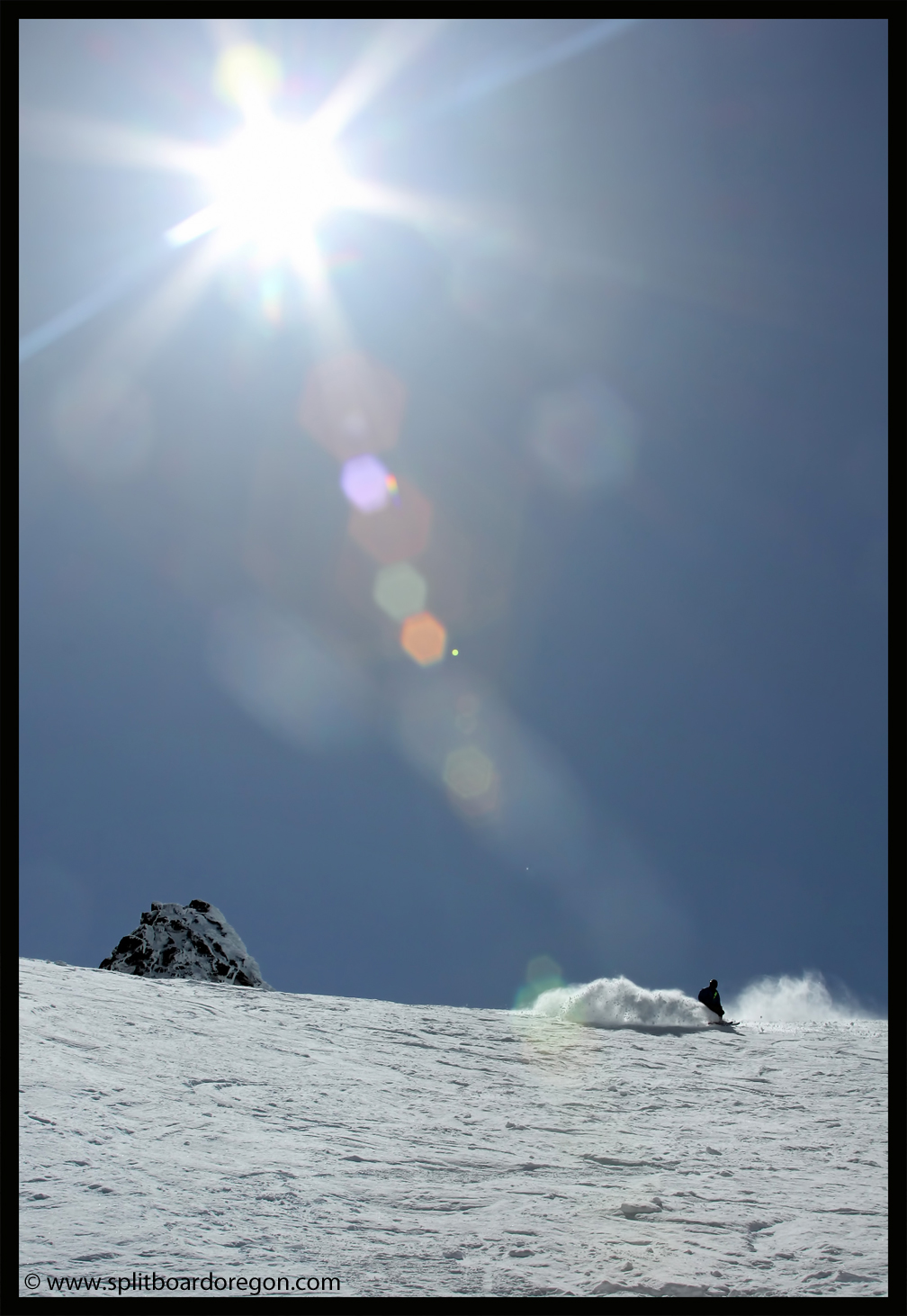 Powder slash in the sun