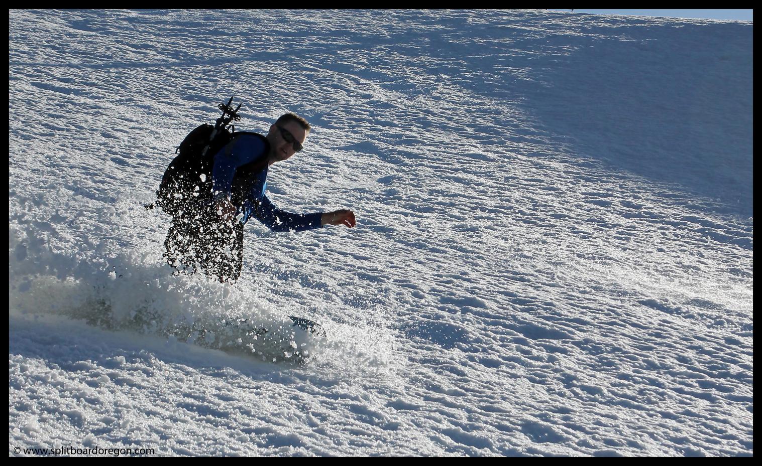 Matt enjoying the soft snow