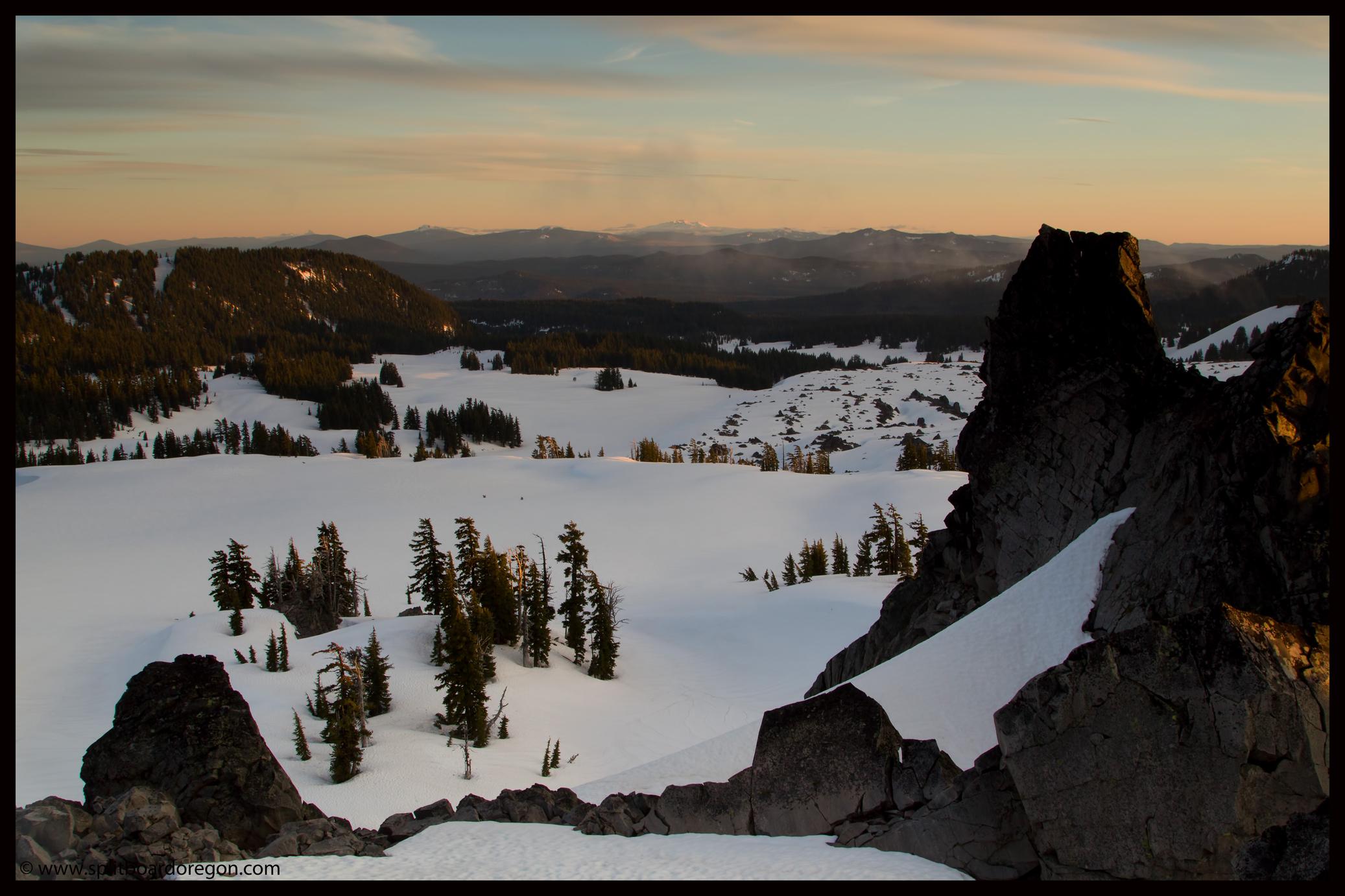 Looking south towards Diamond Peak