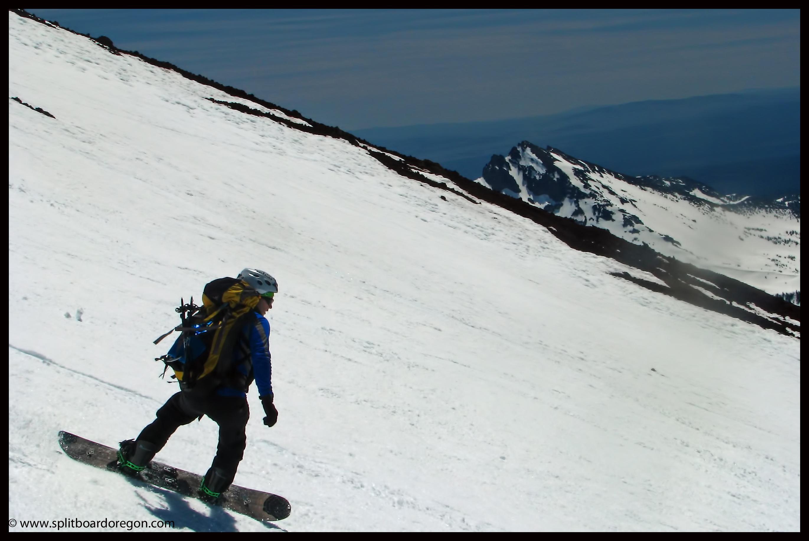 Riding the upper Clark Glacier