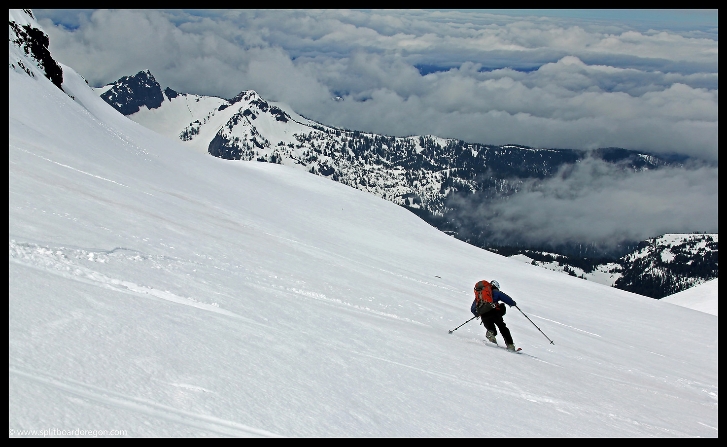 Skiing on the Renfrew Glacier