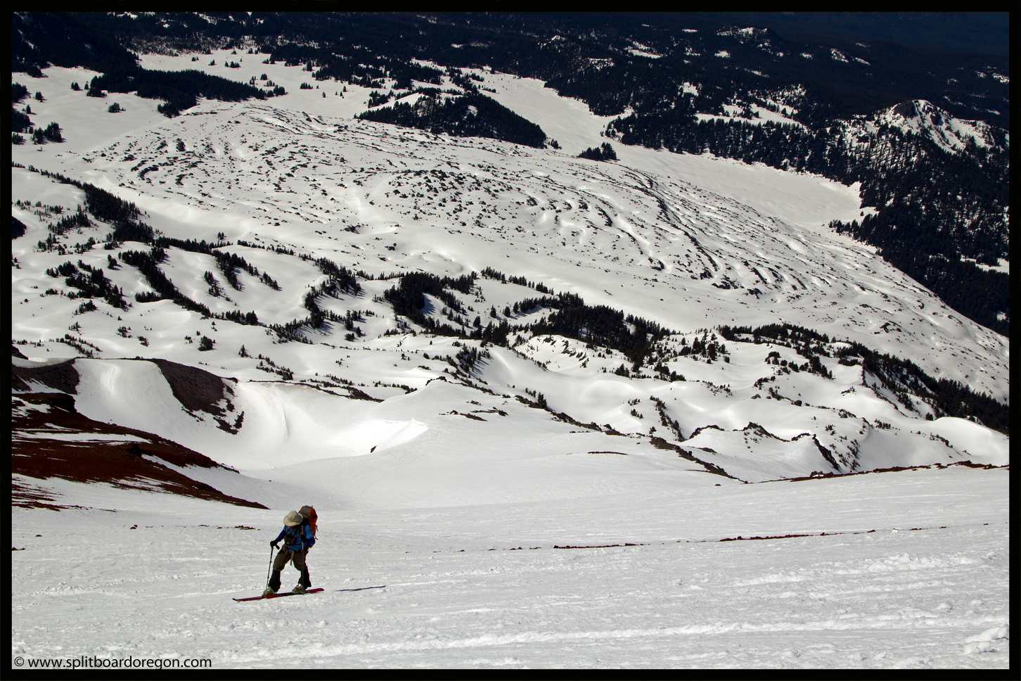 Skinning above the Clark Glacier