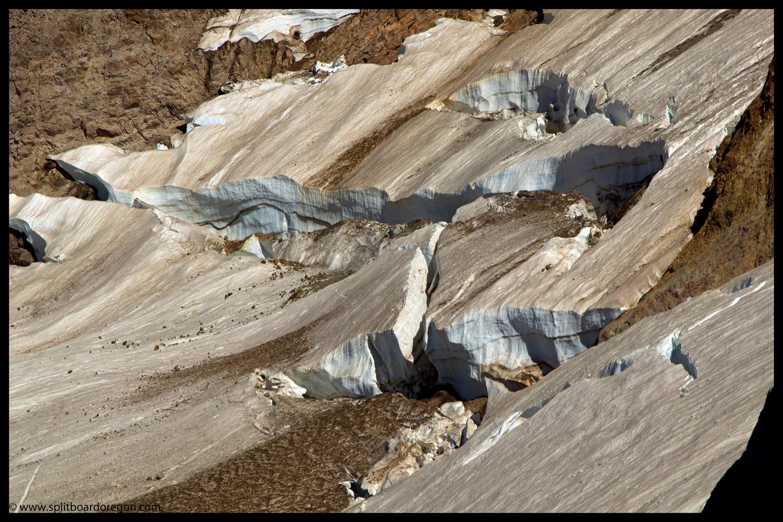 Crevasses on the Reid Glacier
