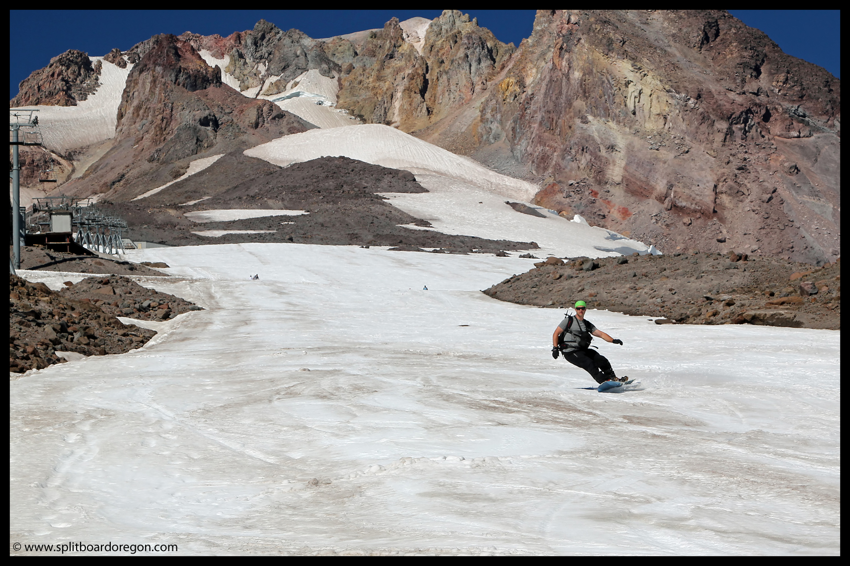 Turns on the lower Palmer snowfield