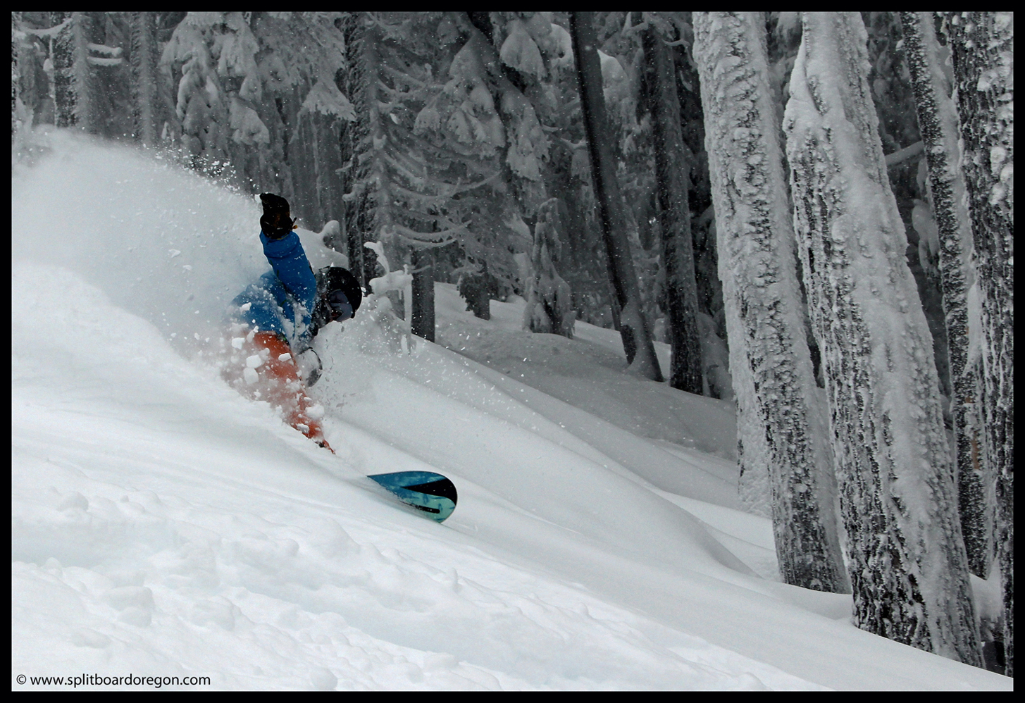 Pow surfing at the Pass