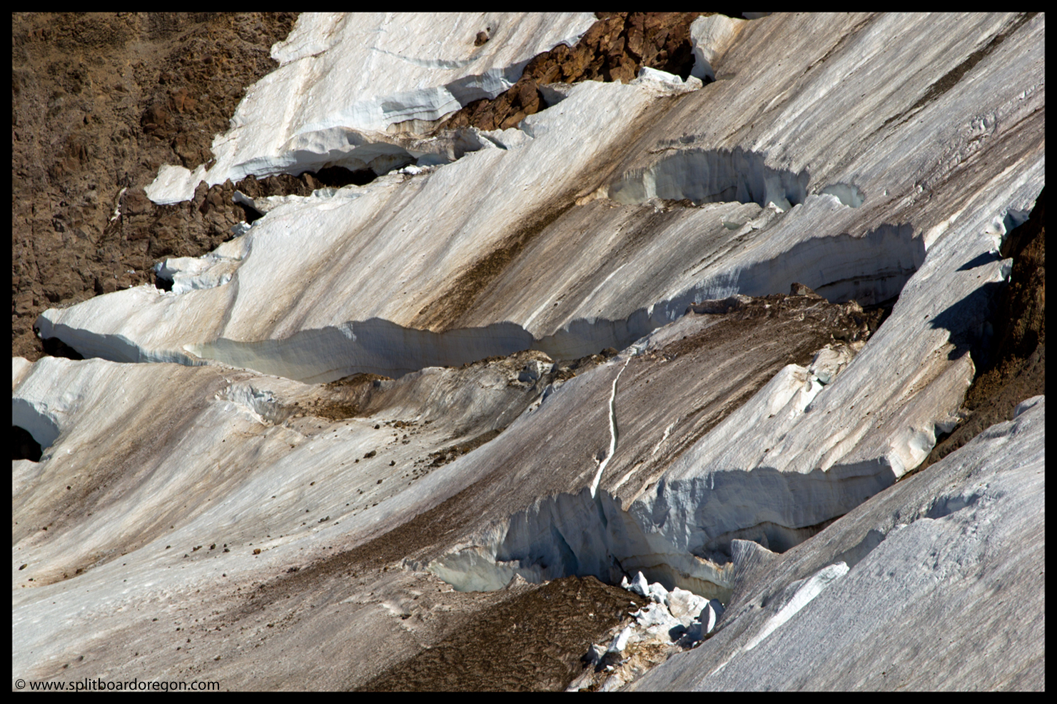 Crevasses on the upper Reid