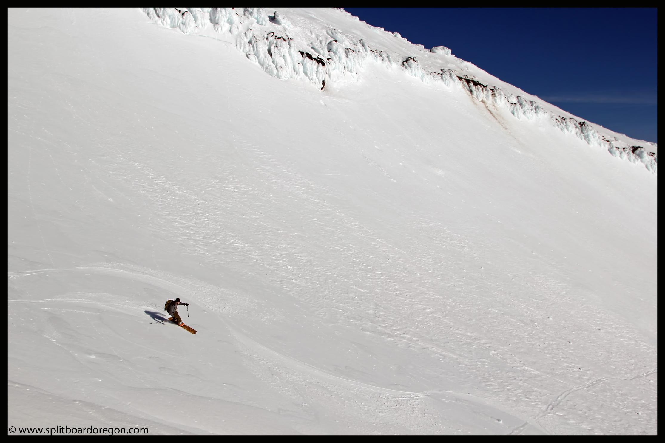 Ron cruising on the upper mountain