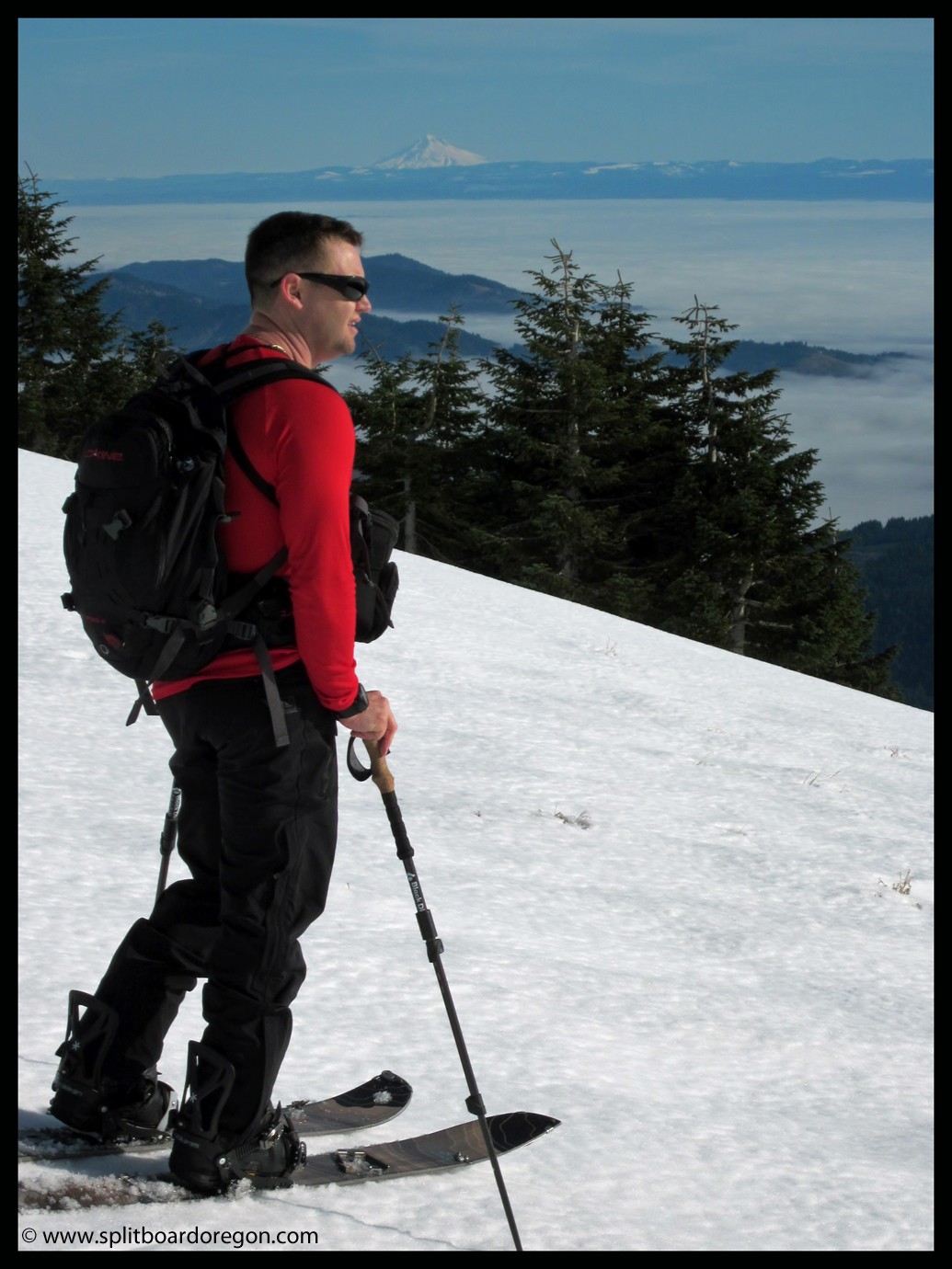 Skinning north from the summit