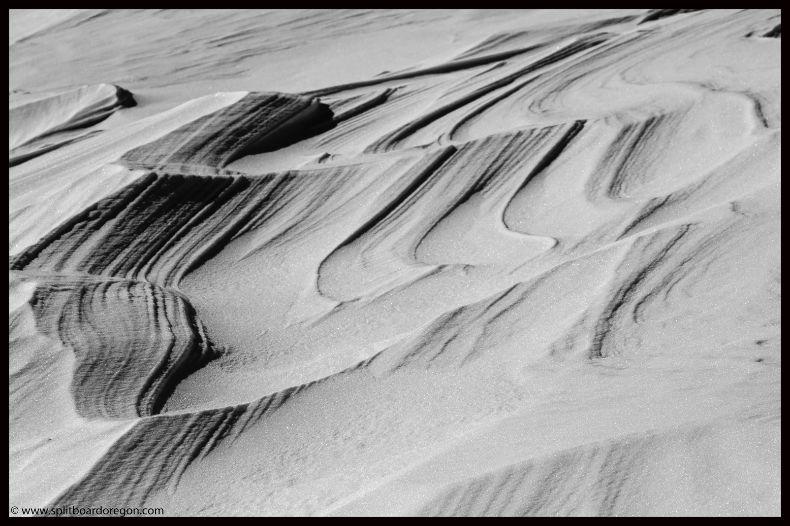 The wind's work on the snow