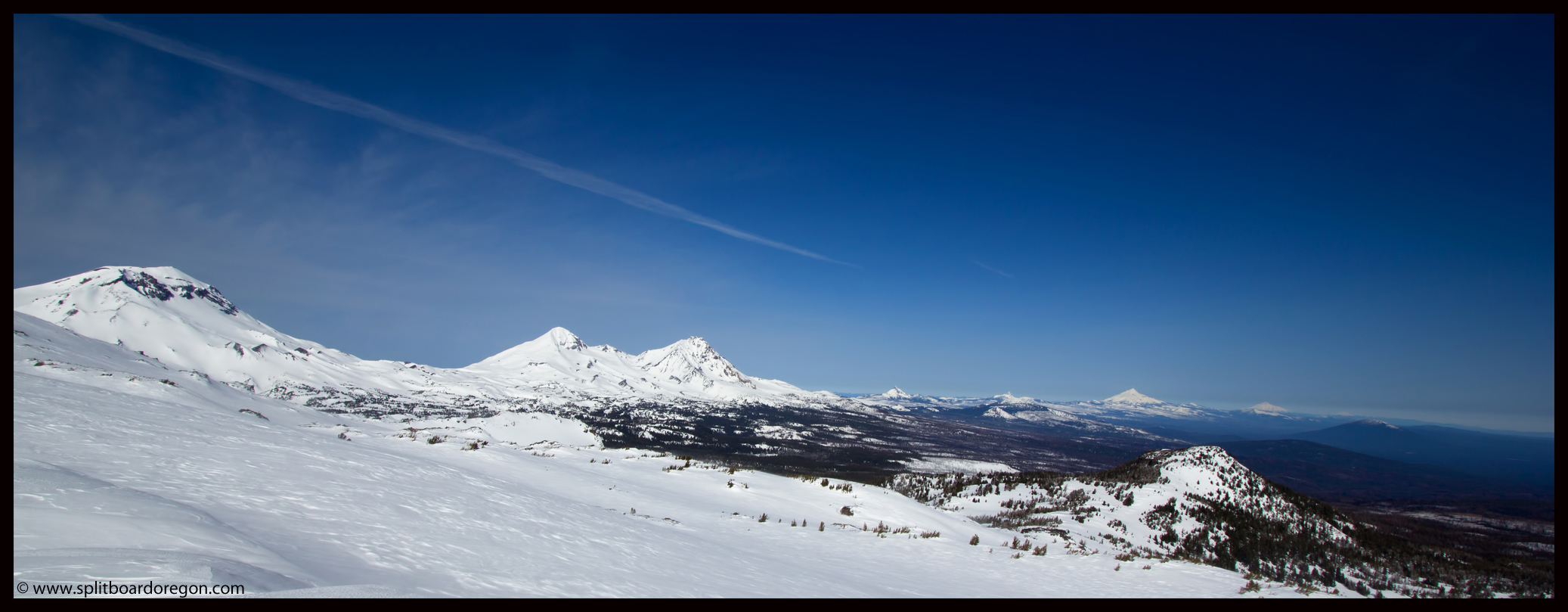 Pano view of the Oregon Cascades
