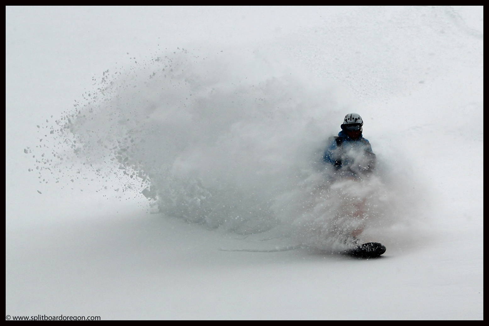 Matt loving the return to winter pow pow