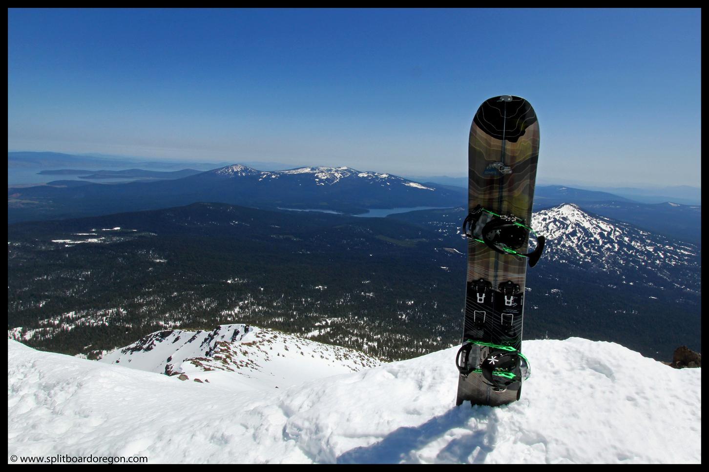 The Solution Split atop Mt McLoughlin