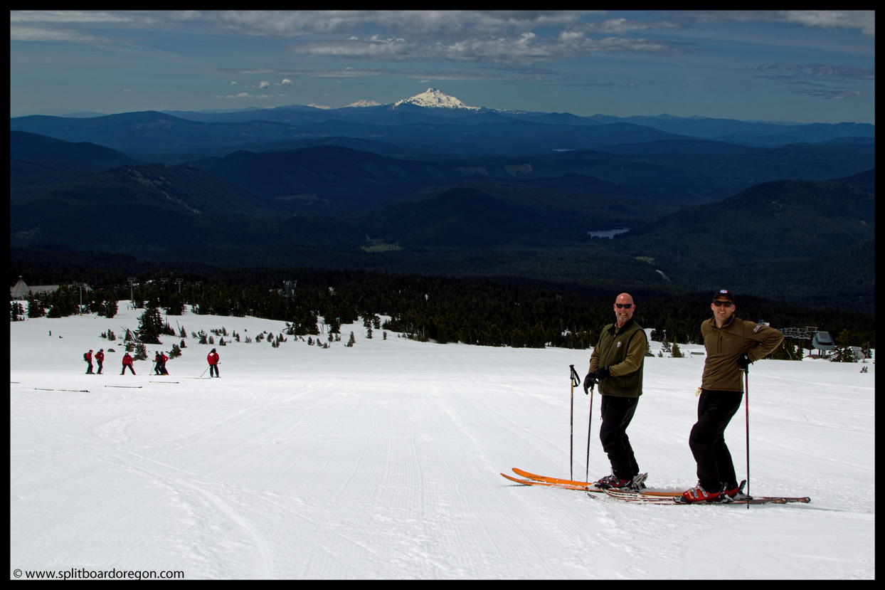 Joe & Kevin with Mt Jefferson