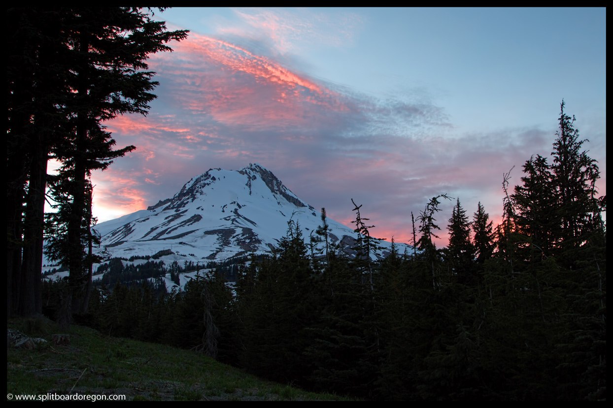 Mt Hood's east side before sunset