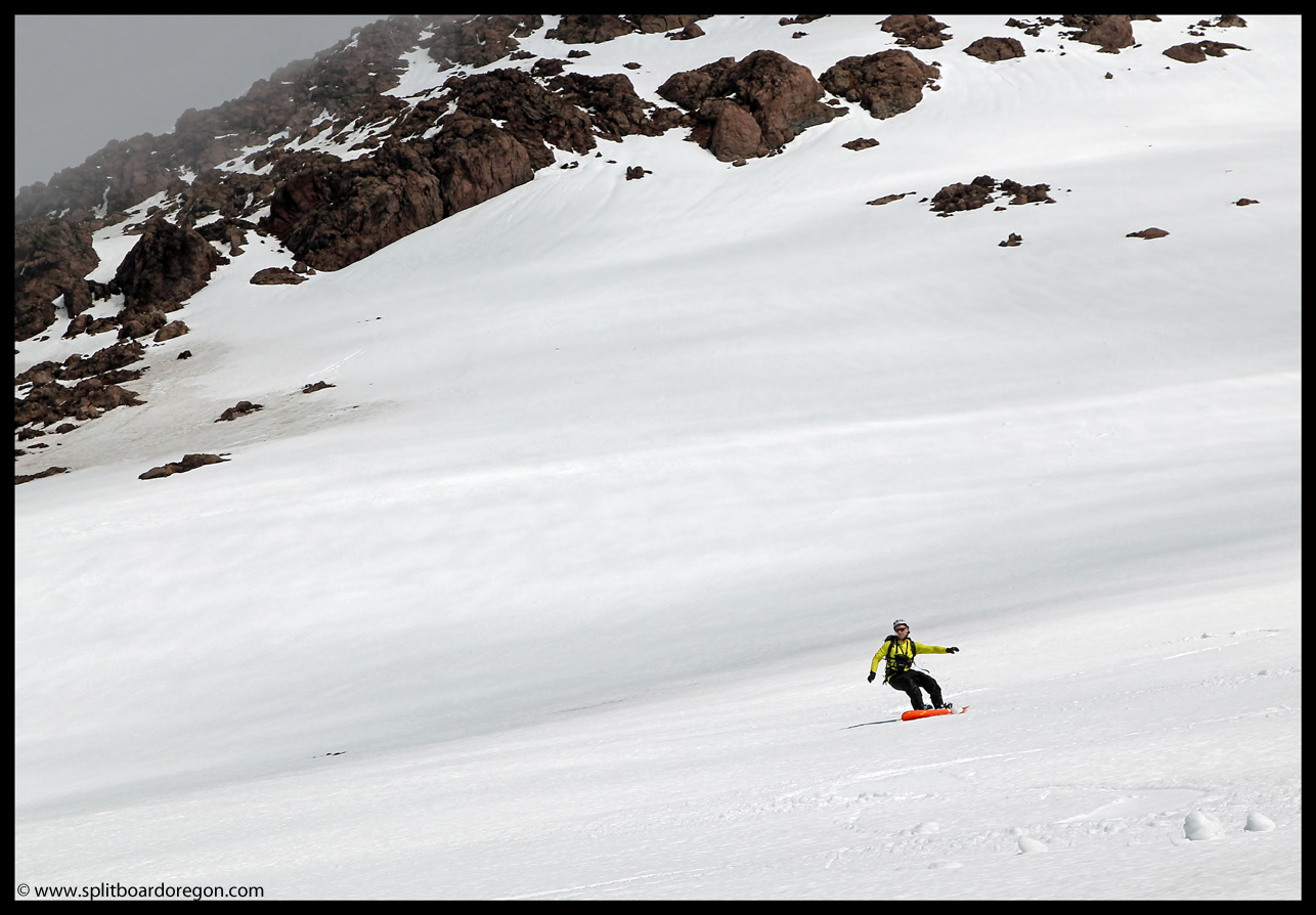 Summer snowboarding on the Wy'East Face