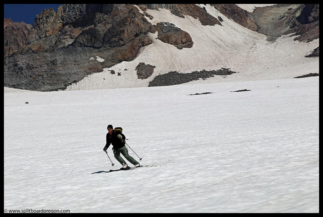 August skiing on the Ziggy