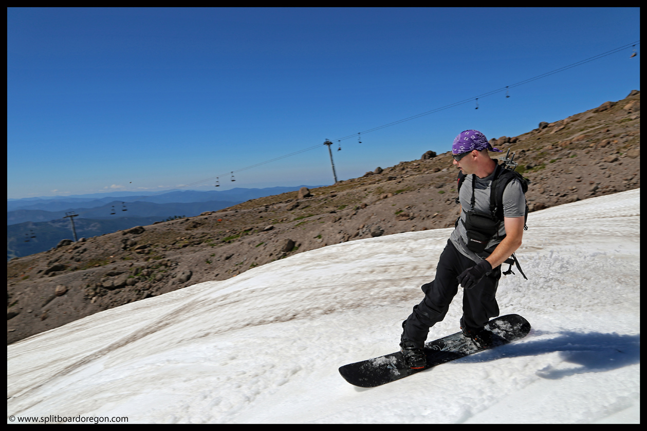 September snowboarding on Hood