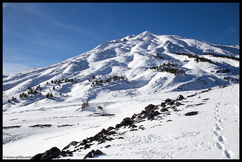 Mt Bachelor under a fresh blanket of October snow