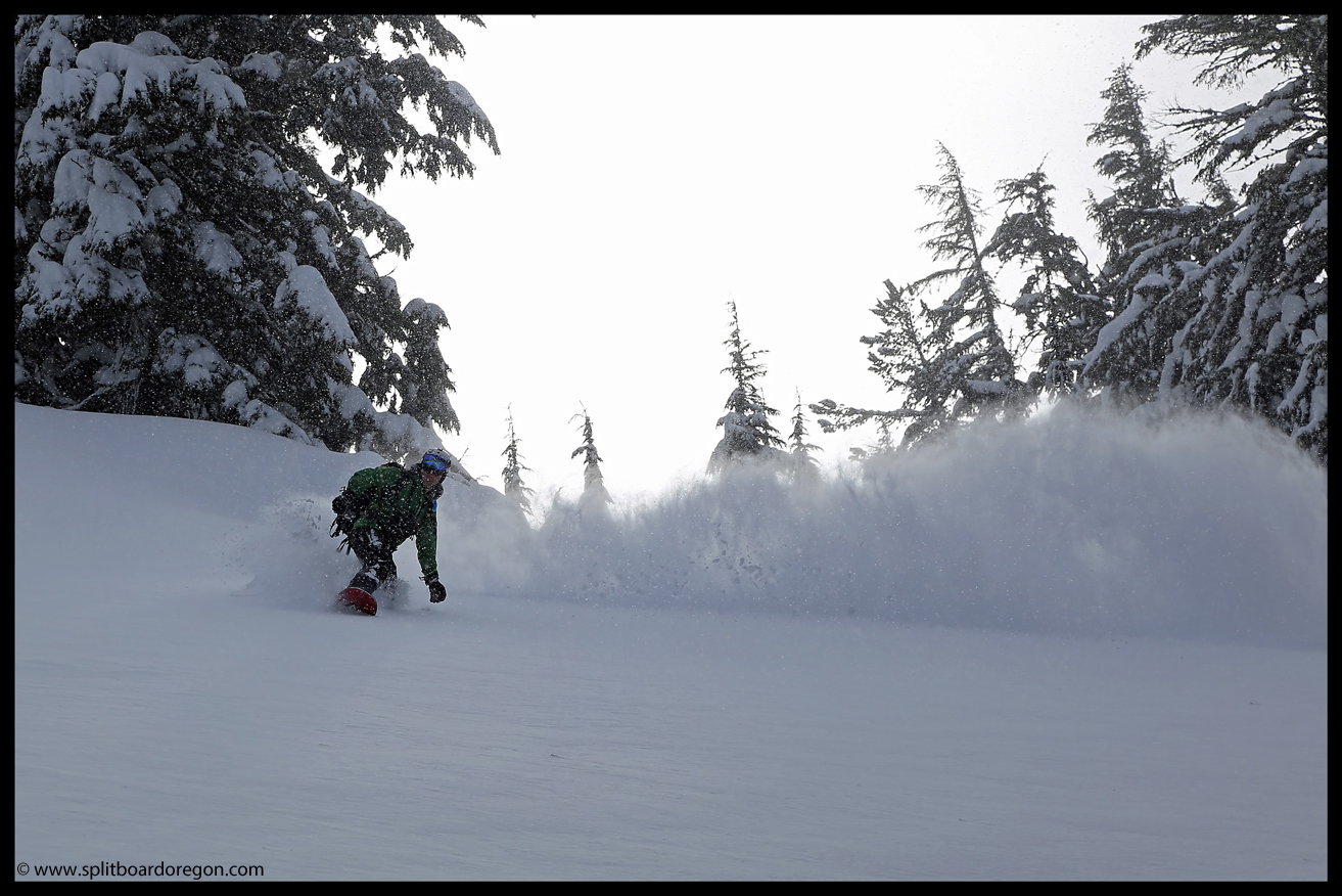 Surfing the pow