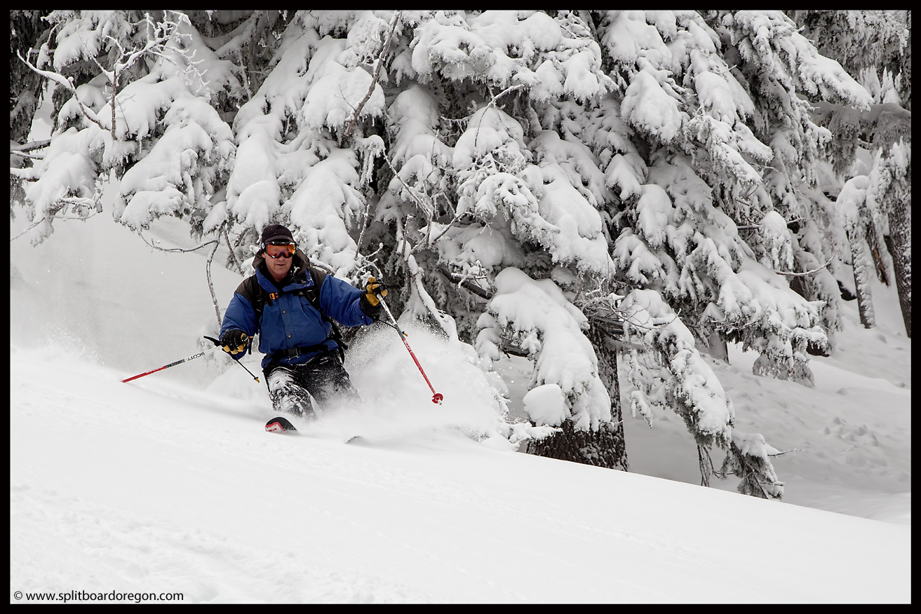 Dan enjoying the pow