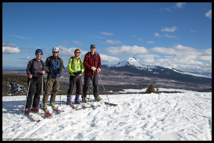 The crew atop Hoodoo