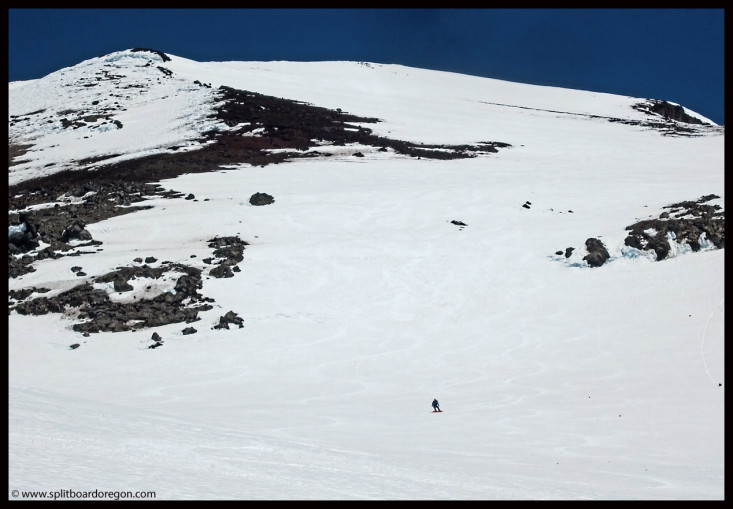 Matt enjoying turns off the summit