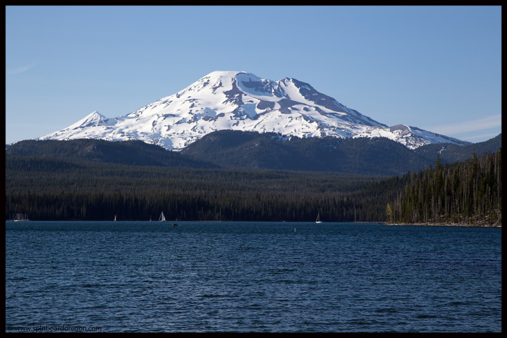 South Sister from Elk Lake