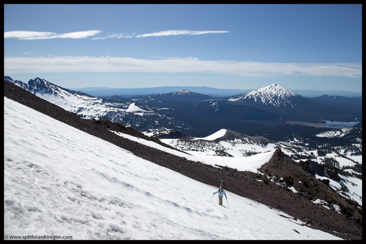 The view east to Mt Bachelor