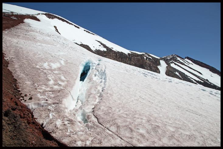 Crevasse on the Lewis Glacier