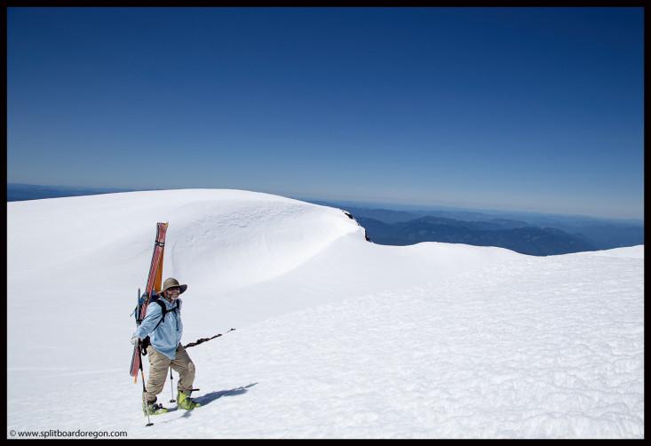 Joe on the summit rim