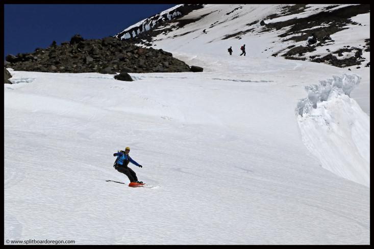 Riding the Clark Glacier