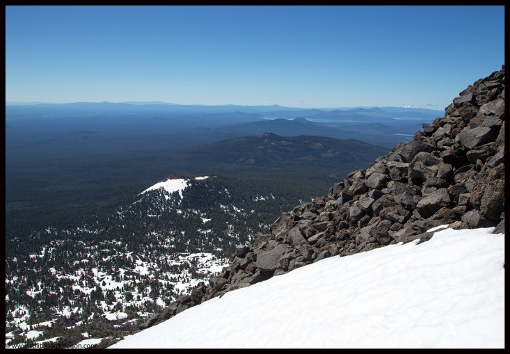 Looking south from the top